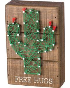 Free Hugs String Art Box Sign