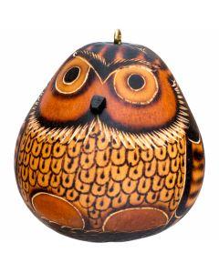 Petite Owl Gourd Ornament