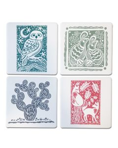 Letterpress Print Coaster Set