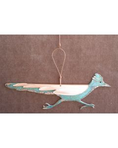 Roadrunner Copper Verdigris Ornament