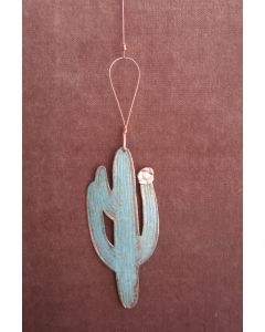Saguaro Cactus Copper Verdigris Ornament