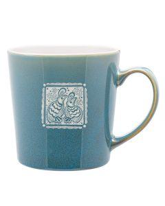 Letterpress Quail Mug