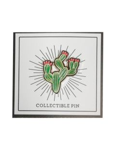 Prickly Pear Cactus with Red Fruit Pin