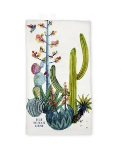 Watercolor Cactus Tea Towel
